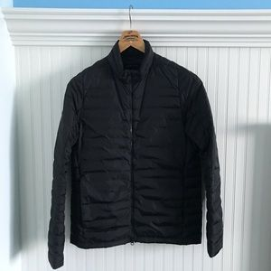 Theory black down jacket